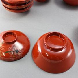 塗替え修理した木製椀