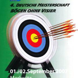 4. Deutsche Meisterschaft - Bögen ohne Visier in Merkwitz