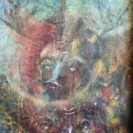 Las Dos Carátulas .:. Oleo sobre tela - 41x57 - 2009
