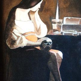La Magdalena Adorata .:. Copia de Autor - Oleo sobre tela - 39x26 - 2010
