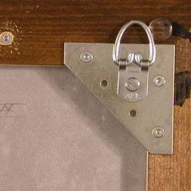Bildaufhänger Depotschiebewand - Aufhänger ergänzt mit D-Ringöse
