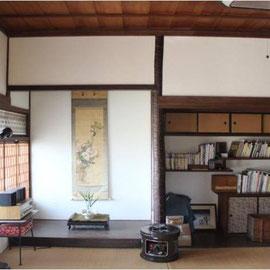こちらが客室です。築100年の古民家の暮らしをご満喫ください。
