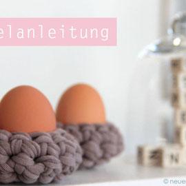 Häkelanleitung Eierbecher knobz