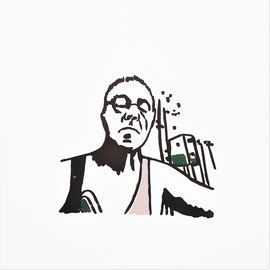 GedankenRäume, immer wieder (Pa), 2021, 10 x 10 cm, Christin_Naumann