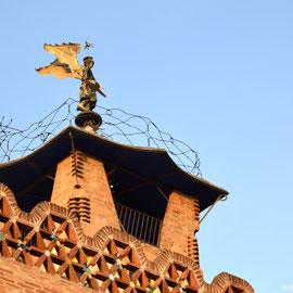 Casa Bofarull, detall del penell. Imatge: Raúl Sanz, 2014.
