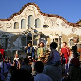 Can Negre durant les celebracions de Sant Joan Despí com a Ciutat Gegantera, 2007. Imatge: Raúl Sanz.