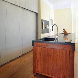 Wohnküche in Berliner Zimmer