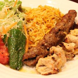 ビーフとチキンのカバブセット(beef and chicken kababu set)