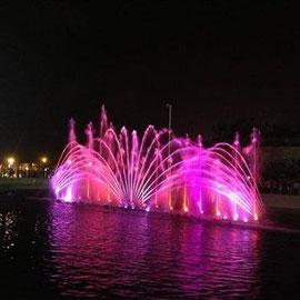 La fontaine lumineuse et sonore