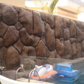 mur décoratif avec jets d'eau