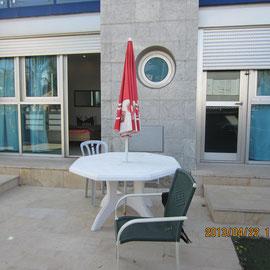 Terrasse arrière de la Villa
