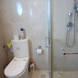 shower bathroom on the ground floor