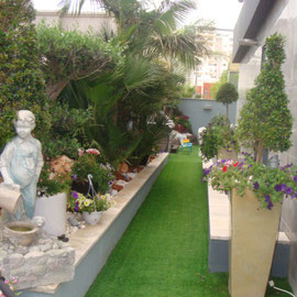 jardin avec fontaines