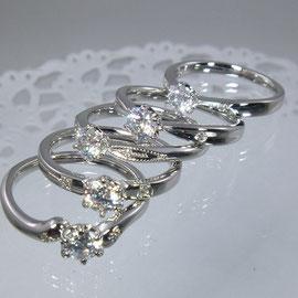 プラチナエンゲージリング 0.3ctダイヤ付き157.000円