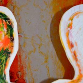 Acryl auf Sperrholz, ca. 180x50cm, 2016