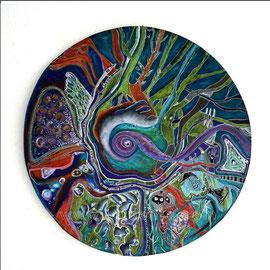 Commencement - diam 0.70cm - Pastels Gras - 2008 - Toute reproduction interdite