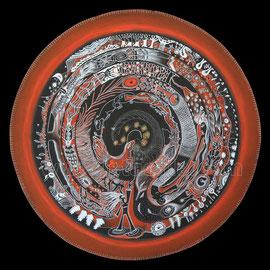 le labyrinthe - 2013 - diam 70cm - Pastels gras et secs  - Reproduction interdite