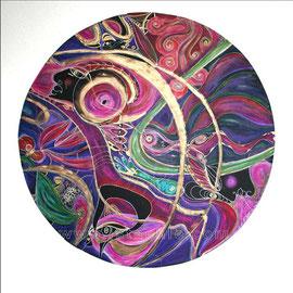 Shamane - diam 0.70cm - Pastels Gras et Ors - 2009 - Toute reproduction interdite