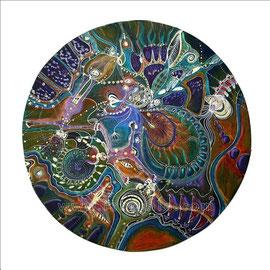 Danse Transe - diam 0.50cm - Pastels Gras, secs et Ors - Toute reproduction interdite
