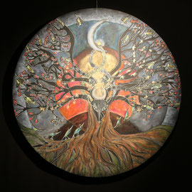 L'Arbre des Ancêtres - 2015 -   diam 70 cm - Pastels gras et secs - Reproduction interdite