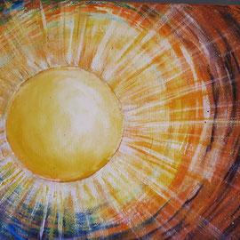 Sonnenpower 30 x 40 cm, Leinwand  150,00 €
