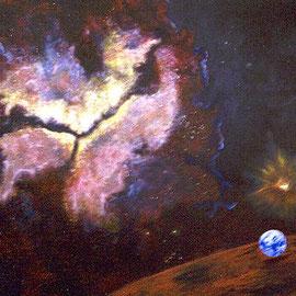 Kosmos des Friedens // 135 x 165cm // verk
