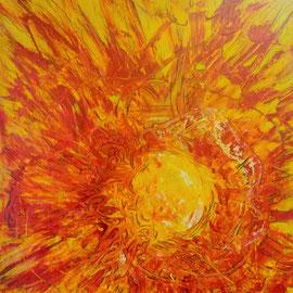 Licht und Feuer, 80 x 70cm auf Spanplatte, 800,00€