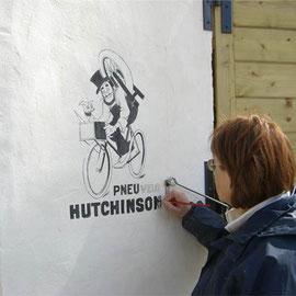 """Peinture d'une Fausse Affiche - Ancienne publicité """"Hutchinson"""""""