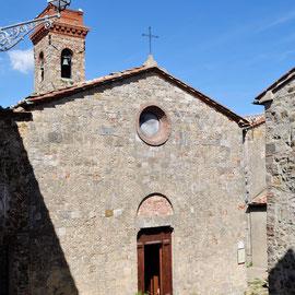 聖ガルガーノの頭蓋骨が納められているサン・ミケーレ教会 トスカーナ修道院めぐり サンガルガーノ