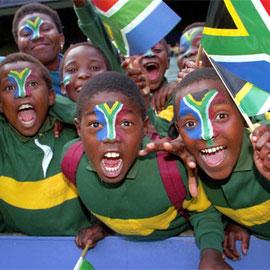 Junge Südafrika-Fans