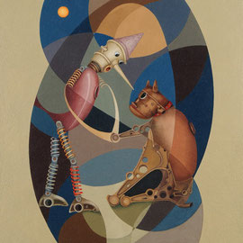 """""""Reciprocità"""" 2011    olio su tela sabbiata 80x70"""