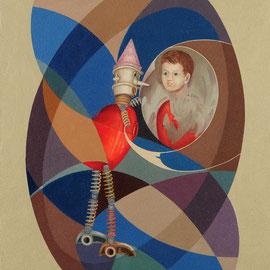 """""""Trasmutazione"""" 2010   olio su tela sabbiata 70x60"""
