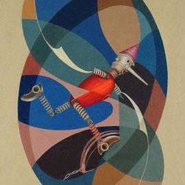 """""""Pinocchio in trappola"""" 2010    olio su tela sabbiata 70x60"""