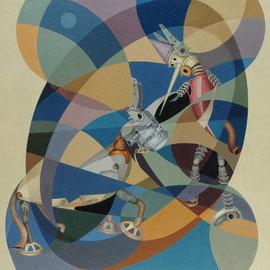 """""""Pinocchio ciuchino"""" 2008     olio su tela sabbiata 100x120"""