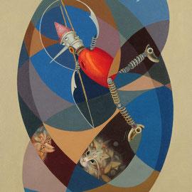 """""""Pinocchio impiccato"""" 2010    olio su tela sabbiata 70x60"""