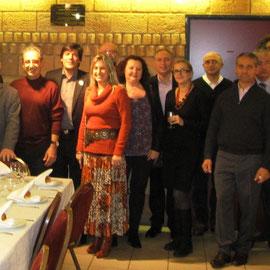 Reception de la délégation israélienne au centre Hillel