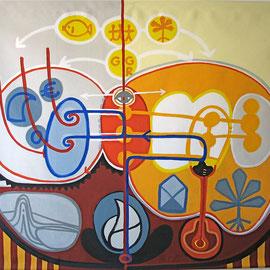 HELFER FÜR W.B., 2003, Acryl auf Leinen