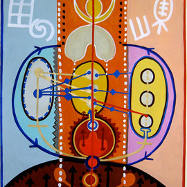 KRAFTBILD Y.S., 2006, Acryl auf Leinen, 145x215