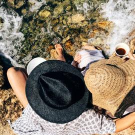 Zeit mit den Liebsten verbringen und Füße ins Meer halten