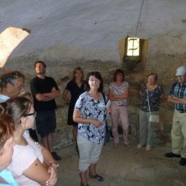 Der Kerker im Nordturm mit seinen Ritz - und Rötelzeichnungen interessiert die Besucher immer besonders.