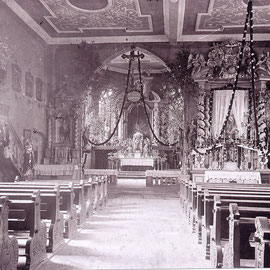 Innenraum der Pfarrkirche St. Peter und Paul vor dem Umbau 1946