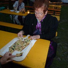 Die fränkischen Flammkuchen erfreuten sich großer Beliebtheit.