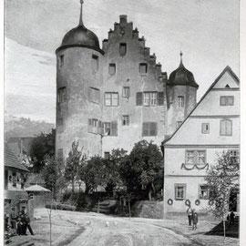 Südgiebel am Anfang des 20. Jahrhunderts