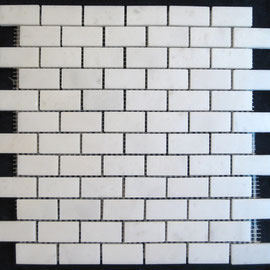 Tapete de Marmol Blanco Royal 1x2, mosaicos de marmol, mosaicos de travertino, marble mosaic, split face tile, split face marble tile, cheap marble tile, marble tile price, tapetes de marmol, tapetes de travertino, mallas de marmol, mallas de travertino