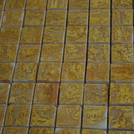 Tapete de Marmol Oro 1x1, mosaicos de marmol, mosaicos de travertino, marble mosaic, split face tile, split face marble tile, cheap marble tile, marble tile price, tapetes de marmol, tapetes de travertino, mallas de marmol, mallas de travertino