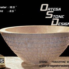 ovalin de travertino 305, venta de ovalines de marmol, venta de ovalines en mexico, fabricacion de ovalines en mexico, onix sink, marble sink