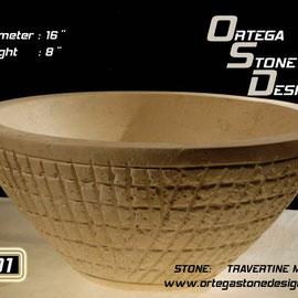 ovalin de travertino 201, venta de ovalines de marmol, venta de ovalines en mexico, fabricacion de ovalines en mexico, onix sink, marble sink