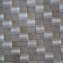 Mosaico Triangulo 3D, Mosaico de Travertino 3D, marmol 3d. tapetes de narnol, mallas de marmol, marmol 3d, travertino 3d, travertino 3d precio, racertino 3d fabricacion, marble 3d, travertine 3d