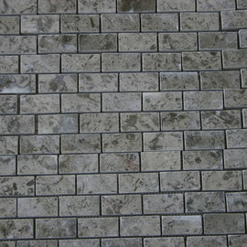 Tapete de Marmol Gris Royal 1x2, mosaicos de marmol, mosaicos de travertino, marble mosaic, split face tile, split face marble tile, cheap marble tile, marble tile price, tapetes de marmol, tapetes de travertino, mallas de marmol, mallas de travertino