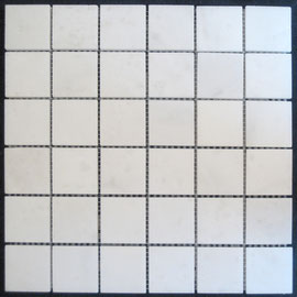Tapete de Marmol Blanco Royal 2x2, mosaicos de marmol, mosaicos de travertino, marble mosaic, split face tile, split face marble tile, cheap marble tile, marble tile price, tapetes de marmol, tapetes de travertino, mallas de marmol, mallas de travertino